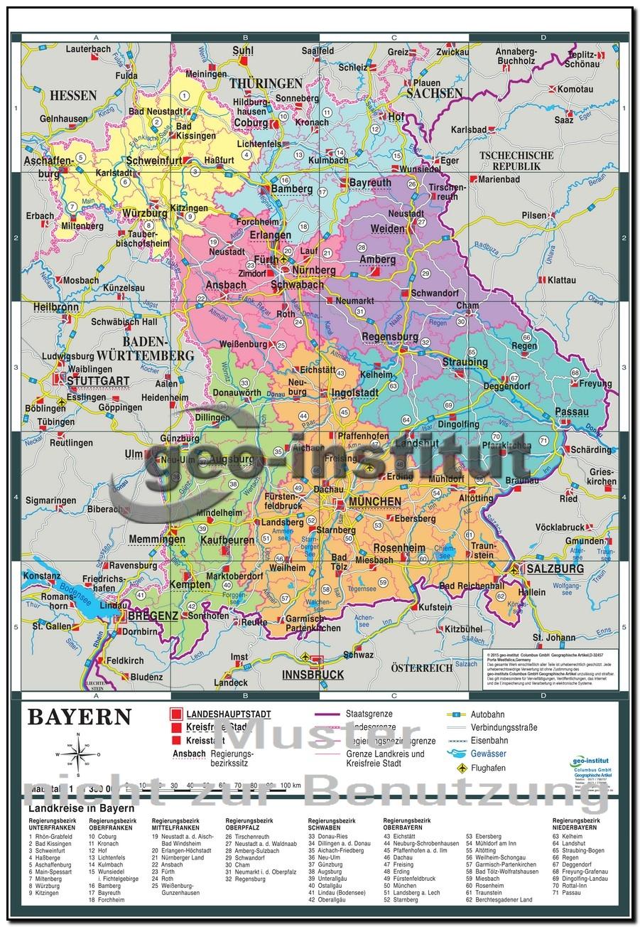Karte bayern arbeitsblatt